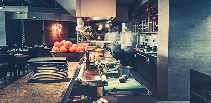 Resturants and Public Houses Insurance: View of a kitchen within a restaurant.
